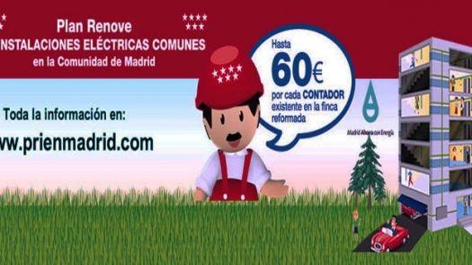 Plan Renove instalaciones eléctricas en la comunidad de Madrid