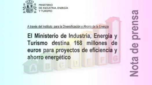 168 millones destinados a la eficiencia energética