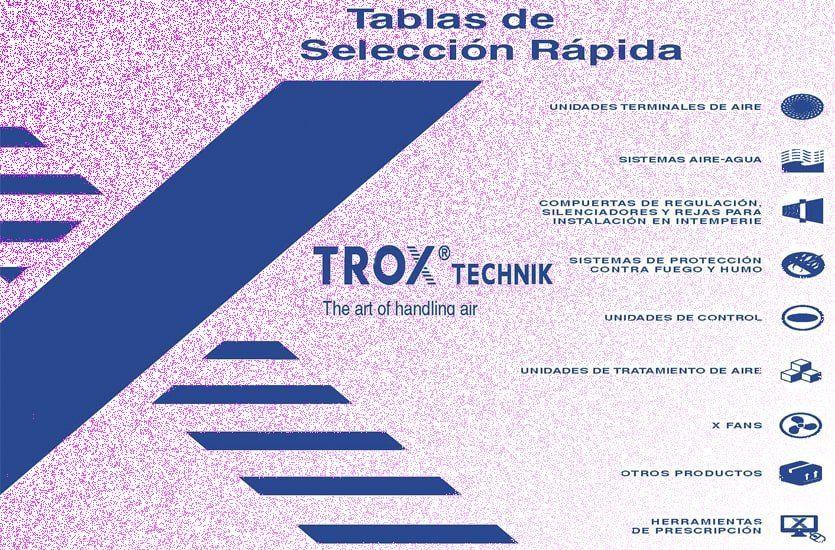 Tablas de Selección Rápida de Trox España, Edición 2015