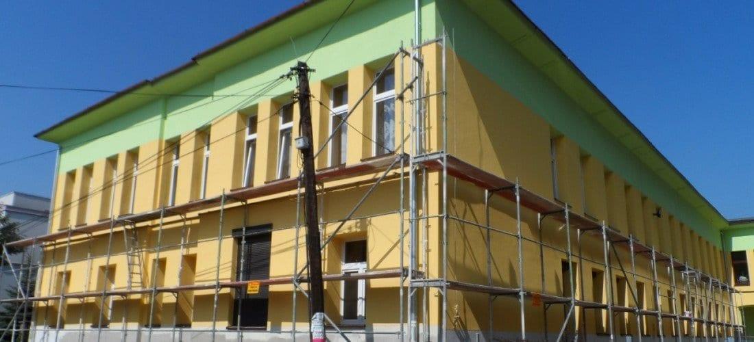 rehabilitación de edificios andamios