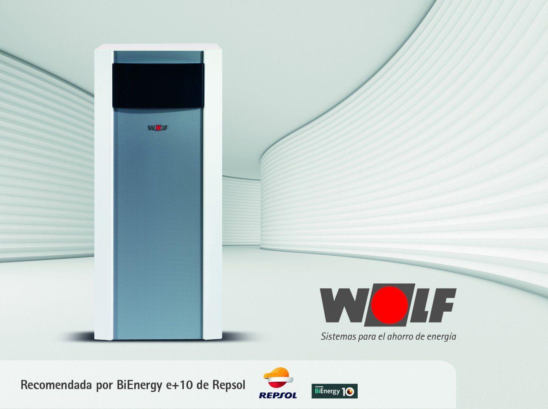 Wolf y BiEnergy e+10 de Repsol eficiencia energética en calefacción