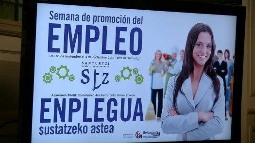 Conpybasque participa en la semana de promoción del empleo en Santurtzi