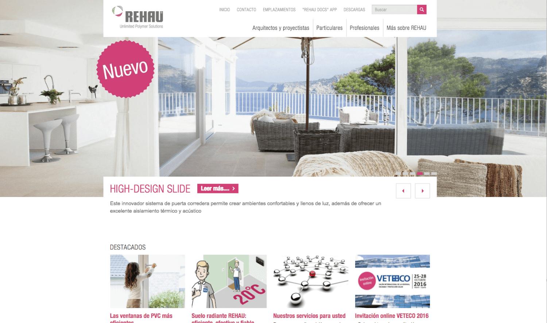 REHAU lanza su nueva web corporativa