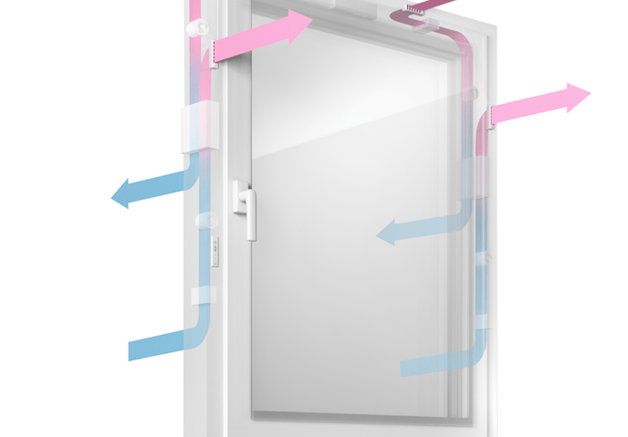 sistema de ventilación en ventanas Rehau