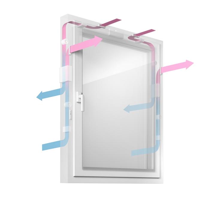Geneo Inovent innovador sistema de ventilación integrado en las ventanas