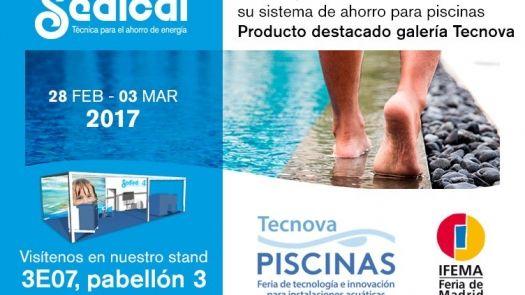 Sedical presentará en TECNOVA sus sistemas de ahorro para piscinas
