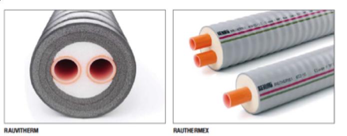 tuberías preaisladas por un revestimiento con funda tubular anillada de polietileno