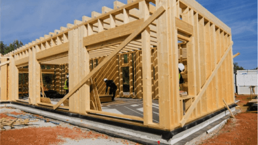 madera reciclada y prensada