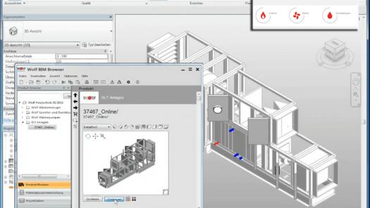 """Wolf simplifica el diseño de climatizadores con """"2-min Konfigurator"""" y BIM-Browser"""