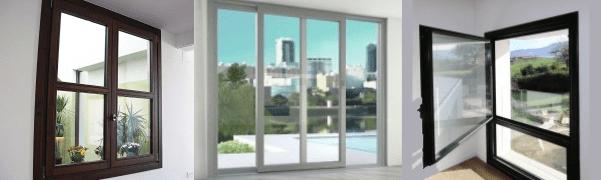 ventanas de pvc, aluminio y madera