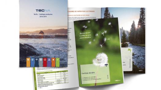 Nuevo catálogo y tarifa de productos TECNA 2018