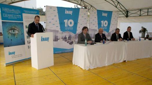 10º Aniversario de la fábrica de Knaufen Escúzar, una de las más innovadoras