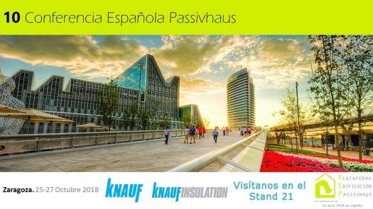 Knauf presentará en la 10ª Conferencia Passivhaus soluciones innovadoras de ahorro energético.