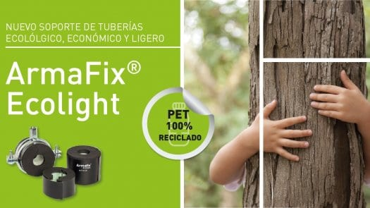 Armafix Ecolight de Armacell: nuevo soporte para tuberías ecológico, económico y ligero.