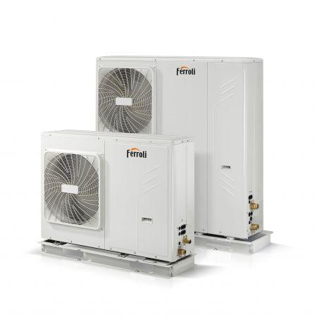 Ferroli actualiza las bombas de calor aerotérmicas aire-agua monobloc RVL I PLUS E