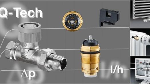 Válvulas de equilibrado hidráulico Q-Tech de Oventrop