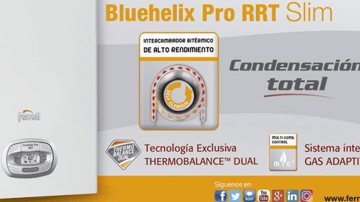 Ferroli presenta su nueva caldera de condensación BLUEHELIX PRO RRT Slim