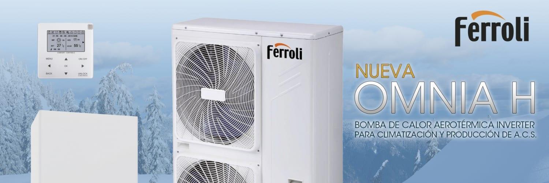 Ferroli presenta su nueva gama de equipos de aerotermia con bomba de calor OMNIA H