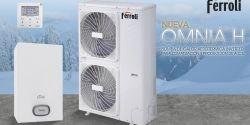 Nueva gama de equipos de aerotermia Ferroli con bomba de calor OMNIA H