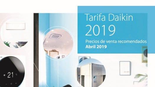 Nueva tarifa de precios DAIKIN 2019