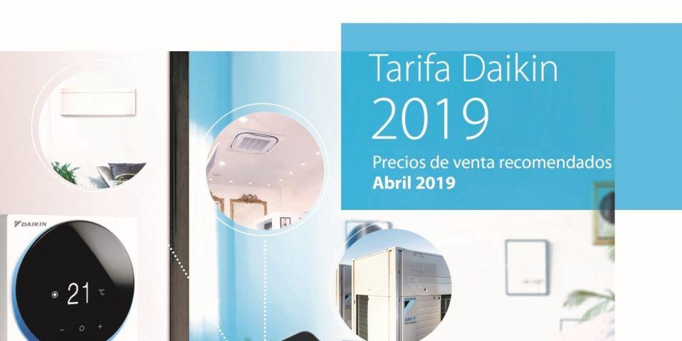 Nueva tarifa precios Daikin 2019