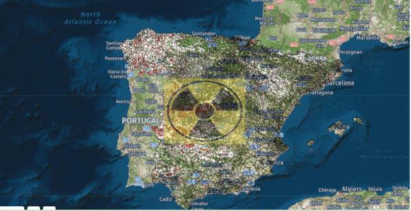 mapa gas radón