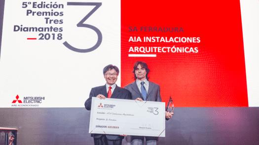 """""""Sa Ferradura"""" de AIA Instalaciones Arquitectónicas ganador del Premio 3 Diamantes de Mitsubishi Electric"""