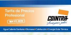 Nueva tarifa de precios Cointra 2019