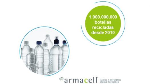 Armacell se aproxima a los 1.000 millones de botellas de PET recicladas en sus procesos de producción