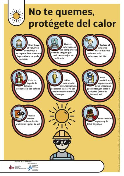 Cartel consejos protegerse del calor