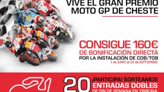 ¡Promoción! Consigue 160 euros y dos entradas para el Gran Premio Moto GP de Cheste con calderas Wolf y Repsol