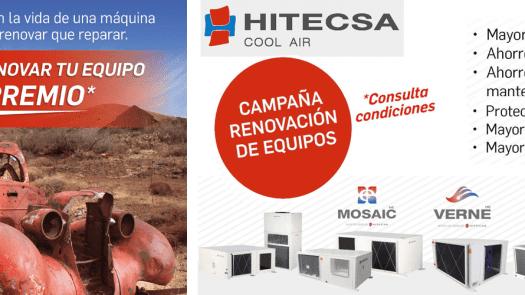 Plan Renove HITECSA 2019: Con HITECSA, renovar tu equipo de climatización tiene premio