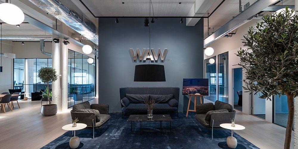 Proyecto de iluminación de las oficinas de Fabege en Estocolmo con luz ERCO; el concepto WAW