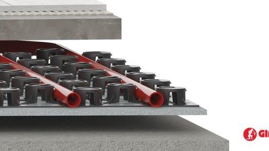 Nuevo panel radiante Giacomini Spider Slim: el suelo radiante de 2 cm de altura