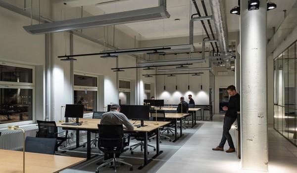 Vista iluminación oficinas Fabege
