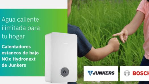 Calentadores estancos de bajo NOx Hydronext de Junkers; agua caliente ilimitada para el hogar