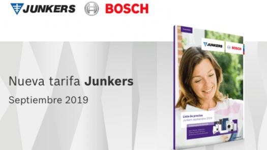 Nueva tarifa Junkers 2019