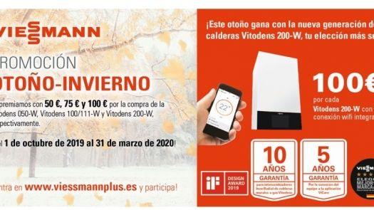 Promoción calderas Viessmann; ¡Este otoño gana con la nueva generación Vitodens 200!
