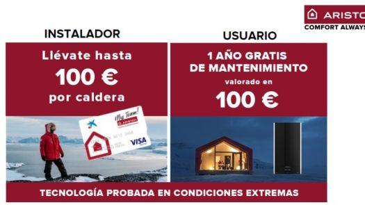 Promoción calefacción Ariston con importantes bonificaciones para instaladores y usuarios