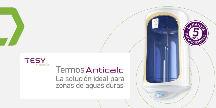 Nueva gama de termos eléctricos Anticalc de Tesy con nuevas funcionalidades