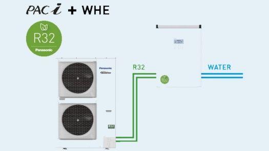 Intercambiador de calor por agua R32 PACi de Panasonic