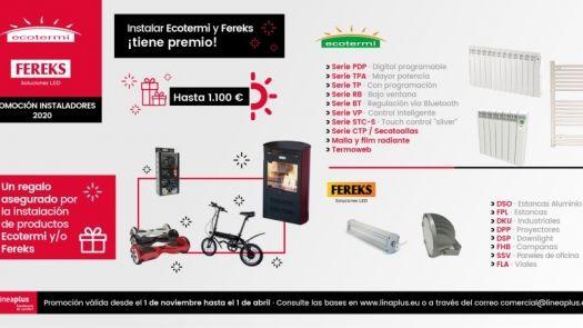 Segunda promoción para instaladores de Calefacción Ecotermi y de Iluminación LED de Fereks