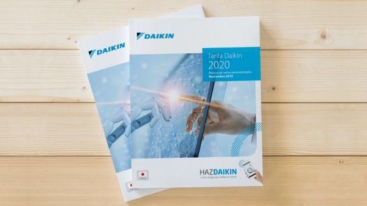 Nueva tarifa de precios Daikin 2020