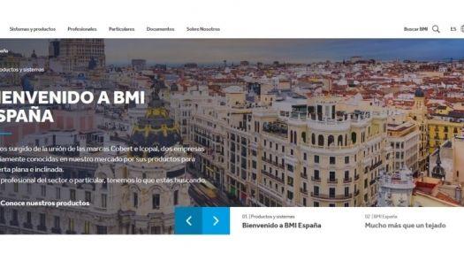 Nueva web de BMI incorporando Tejas Cobert e Icopal