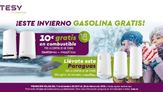 Nueva promoción Tesy con cheque gasolina por la compra de termos BelliSlimo y Modeco