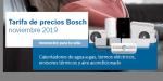 Nueva tarifa precios Bosch calefacción, climatización y ACS