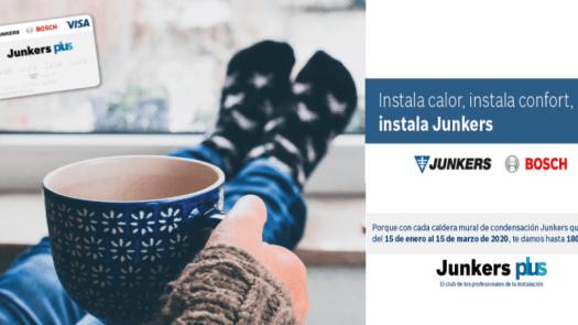 Promoción: Junkers premia la instalación de sus calderas murales de condensación