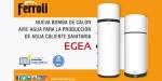 Nueva bomba de calor aire-agua EGEA para producción de ACS de Ferroli