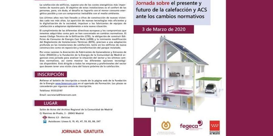Jornada FENERCOM sobre presente y futuro de la calefacción y ACS ante los cambios normativos