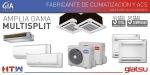 Aire acondicionado multi split de Giatsu y HTW